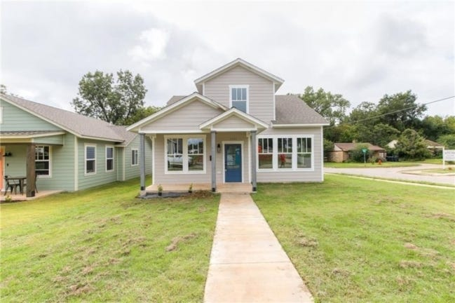 This 1,750-square-foot, three-bedroom, 2 -bath home with detached two-car garage at 1700 NE Euclid St. was built in 2020 in conjunction with Progress OKC, a nonprofit Community Development Corp. It's listed for $236,250 with Sara Bytyqi, of Verbode. [PHOTO PROVIDED]