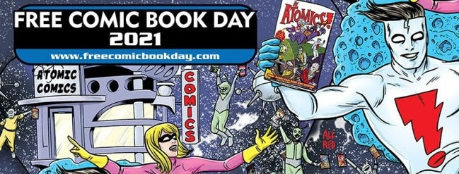 Promotional art for Free Comic Book Day 2021 by Mike Allred. [photo provided]