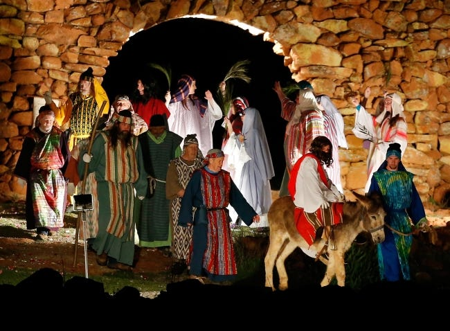 """Jesus enters the city on Palm Sunday in a scene from the 2015 """"Prince of Peace"""" Easter Pageant at the Holy City of the Wichitas near Lawton. [The Oklahoman Archives]"""