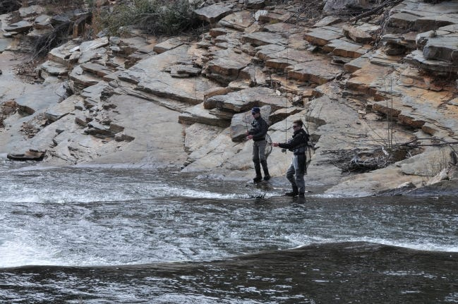 Lower Mountain Fork River is one of the two trout fisheries that Oklahoma supports 12 months out of the year. [PROVIDED/OKLAHOMA WILDLIFE CONSERVATION DEPARTMENT]