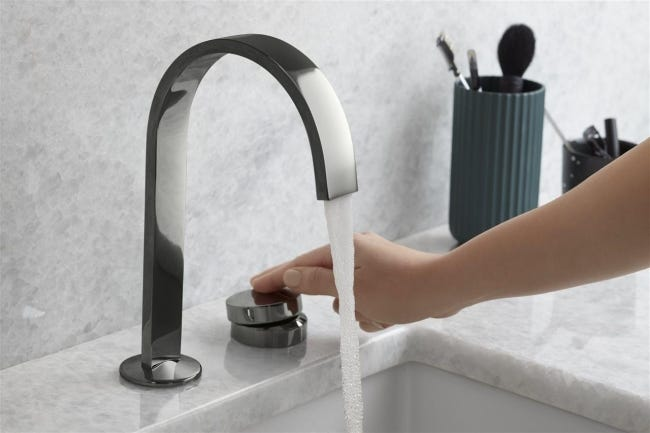 Consider replacing bathroom faucets with lever handle faucets, or with a touch, motion or digital smart faucet. [Brandpoint/More Content Now]