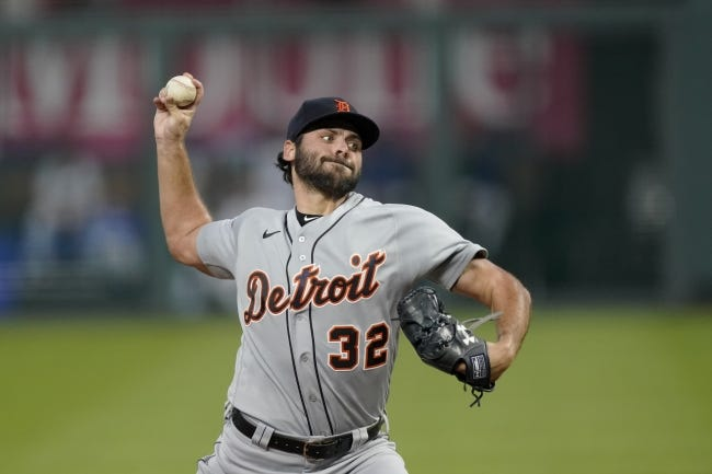 Detroit Tigers starting pitcher Michael Fulmer is ecstatic about playing for new manager AJ Hinch, — a fellow Oklahoman — and pitching coach Chris Fetter, who focuses heavily on analytics. [AP Photo/Charlie Riedel]