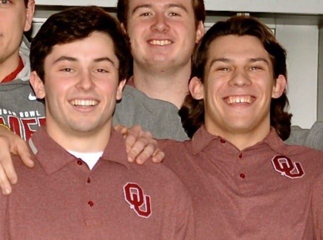 Baker Mayfield and Joe Palange spent the 2014 season together at OU. [PHOTO PROVIDED]