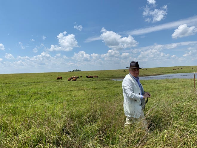 """Martin Scorsese is seen location scouting in Oklahoma for his upcoming film, """"Killers of the Flower Moon."""" [Photo provided by producer Emma Tillinger Koskoff]"""