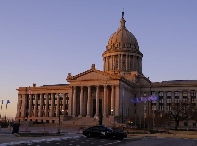 Exterior of the Oklahoma Capitol building Thursday, January 14, 2021. [Doug Hoke/The Oklahoman]