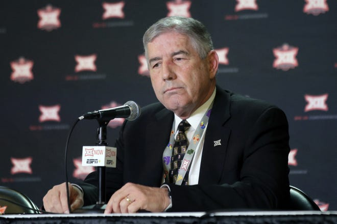 Big 12 commissioner Bob Bowlsby played a large role in putting on a fall college football season in 2020. [AP Photo/Orlin Wagner, File]