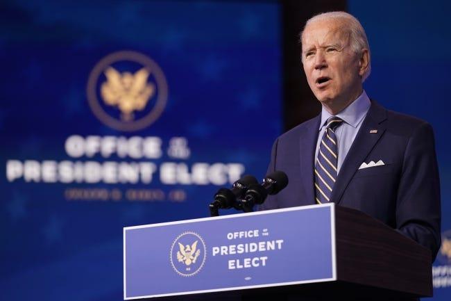 President-elect Joe Biden speaks at The Queen theater, Monday, Dec. 28, 2020, in Wilmington, Del. [AP Photo/Andrew Harnik]
