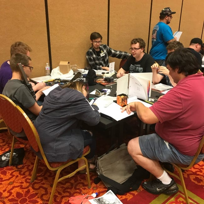 Attendees play tabletop games at the 2019 SoonerCon in Norman. The 2021 show, like the 2020 edition, has been canceled due to COVID-19. [Matthew Price]
