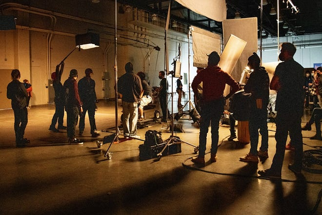 The first filming at the new Prairie Surf Studios, formerly the Cox Convention Center, started in late December, as students and instructors began film production as part of a CARES Act-funded job training program. [Photo provided]