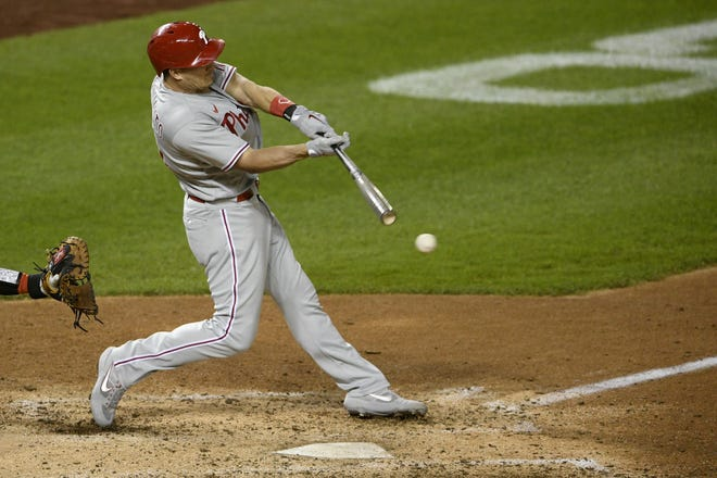 J.T. Realmuto and the Philadelphia Phillies agreed on a $115.5 million, five-year contract. The two-time All-Star catcher played high school ball at Carl Albert in Midwest City. [AP Photo/Nick Wass, File]