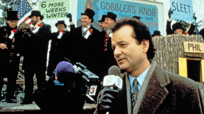 """Bill Murray is seen in the 1993 movie """"Groundhog Day."""" [Columbia Pictures photo]"""