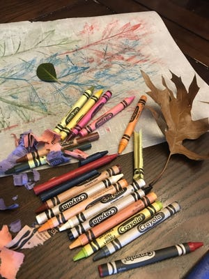 A rainy day art project requires some legwork now. Gather and press a variety of leaves so they will be ready for a crayon rubbing masterpiece on a later date. [LINDA LYNN/THE OKLAHOMAN]