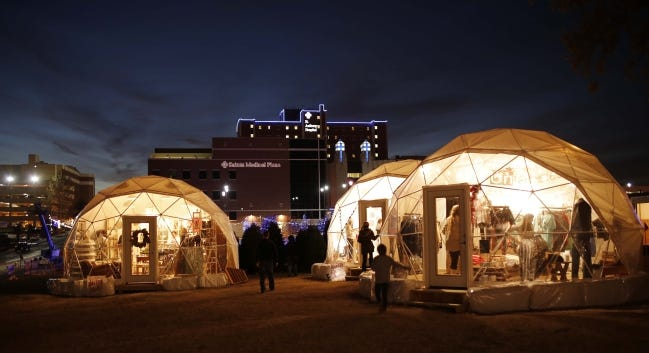 Holiday Pop-Up Shops in Midtown at one of the earliest events in 2013. [DOUG HOKE/THE OKLAHOMAN ARCHIVES]