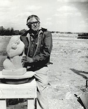 Allan Houser [Oklahoma Publishing Company Photography Collection, Oklahoma Historical Society]