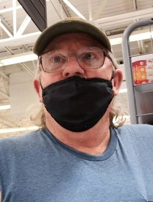 Scott Hundley speaks about Walmart's decision last year to require customers nationwide to wear masks while shopping. [Jordan Green/The Oklahoman].
