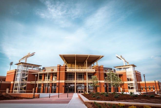 Image Taken at O'Brate Stadium, Oklahoma State University, Friday, April 17, 2020, Stillwater, OK. Courtney Bay/OSU Athletics