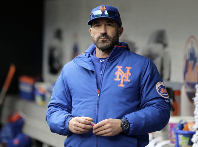 Former New York Mets manager and current Los Angeles Angels coach Mickey Callaway is being investigated my Major League Baseball for aggresively pursuing women who work in the sports media. [AP Photo/Seth Wenig, File]