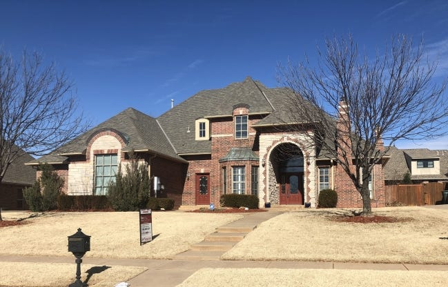 A relatively rare thing in Edmond: A home listed for sale, at 1101 W.B. Meyer Parkway. A Keller Williams Realty agent has the listing. The house is priced at $479,950. Even rarer are homes for sale for less than $200,000. [RICHARD MIZE/THE OKLAHOMAN]