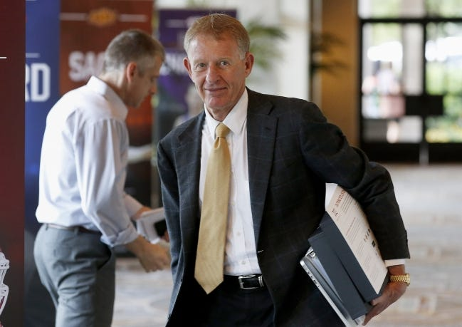The Oklahoma State athletic department cleared a little more than $1.1 million in the 2020 fiscal year under the direction of Mike Holder. [AP Photo/Ross D. Franklin]