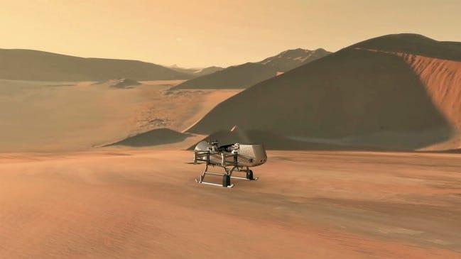 Dragonfly Titan drone. [NASA]