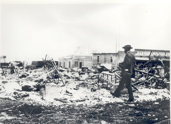 """To commemorate the 100th anniversary of the Tulsa Race Massacre this year, PBS has announced the upcoming premiere of a new documentary titled """"Tulsa: The Fire and the Forgotten Examines the Tulsa Race Massacre 100 Years Later."""" [Oklahoma Historical Society photo]"""