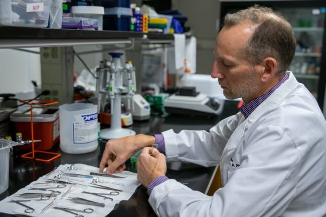 Oklahoma Medical Research Foundation scientist Benjamin Miller is recruiting healthy volunteers to study whether a diabetes drug can slow aging. [OMRF]