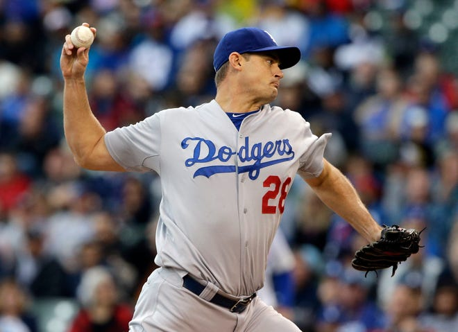 Westmoore graduate Jamey Wright pitches for the Los Angeles Dodgers in 2014. Wright was named Oklahoma City's pitching coach on Monday. (AP Photo/Nam Y. Huh, File)
