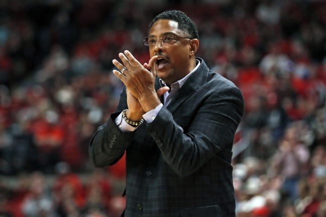Texas-Rio Grande Valley coach Lew Hill died Sunday, a day after coaching a basketball game against Texas Southern. He was 55. [AP Photo/Brad Tollefson, File]