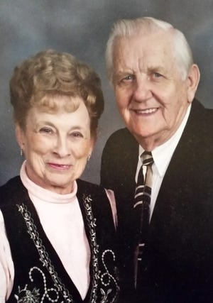 64 years: Patsy and Jim Richardson, of Oklahoma City, were married Feb. 14, 1957, in Tulsa.