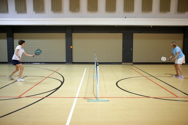 The Move with the Mayor series will kick off with pickleball on Feb. 27 at the 12th Avenue Recreation Center, 1701 12th Ave. NE in Norman. [BRYAN TERRY/THE OKLAHOMAN ARCHIVES]