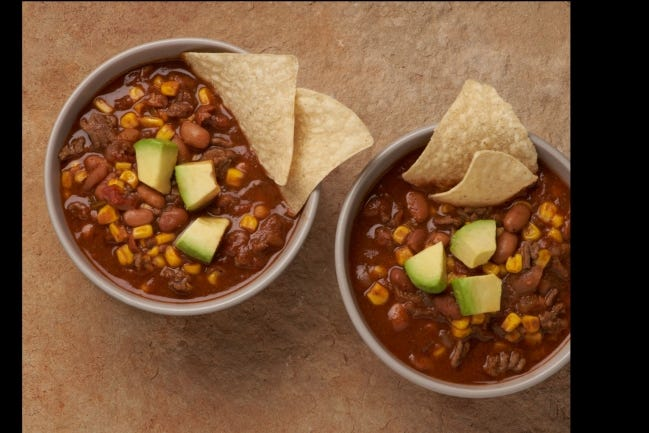 Taco soup made with local products is ideal for cold weather. [Photo provided]
