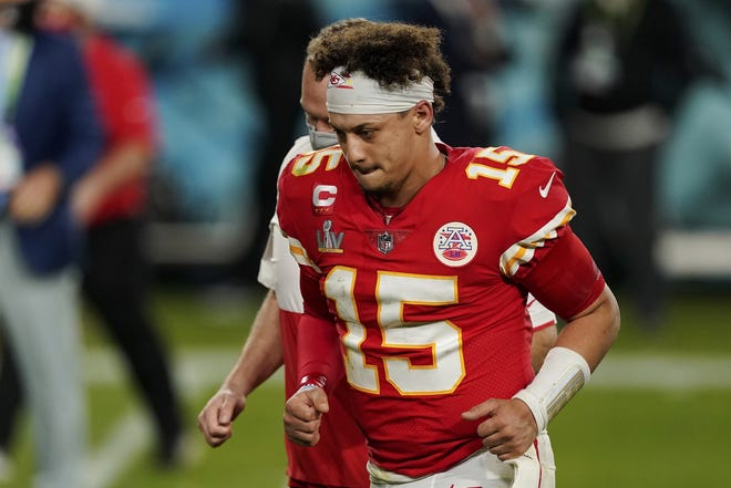 Kansas City Chiefs quarterback Patrick Mahomes is scheduled to have surgery on a turf toe injury. Mahomes is expected to be ready for the start of training camp in late July. [AP Photo/Steve Luciano]