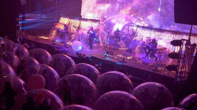 Due to the continuing demand for tickets, Oklahoma City-based art-rockers The Flaming Lips are adding two more Space Bubble Concerts to their already-planned four-show run of March hometown shows. [Scott Booker photo]