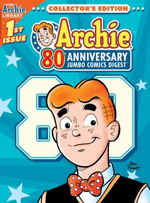 "Dan Parent's cover to ""Archie Comics 80th Anniversary Jumbo Comics Digest."" [Archie Comics]"