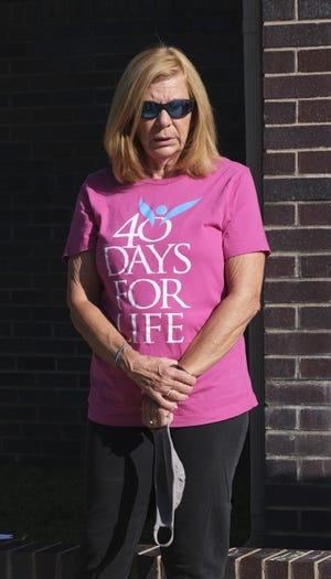 In this September 2020 photo, Connie Lang, leader of the 40 Days for Life anti-abortion campaign, participates in a prayer vigil in Norman. [Doug Hoke/The Oklahoman Archives]