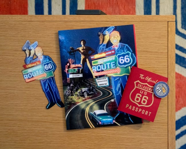 The Oklahoma Route 66 Passport is free and can be ordered by going to the Oklahoma Tourism and Recreation website, TravelOK.com. [Lori Duckworth/Oklahoma Tourism]