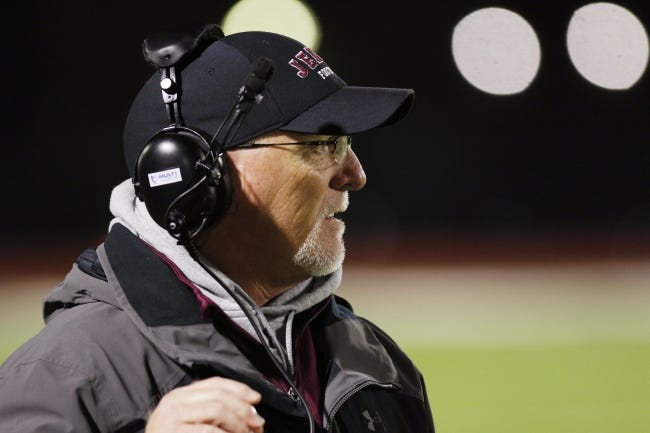 Jenks has a 30-8 record under Keith Riggs and has made the state championship game in each of his three seasons as head coach. [Doug Hoke/The Oklahoman]