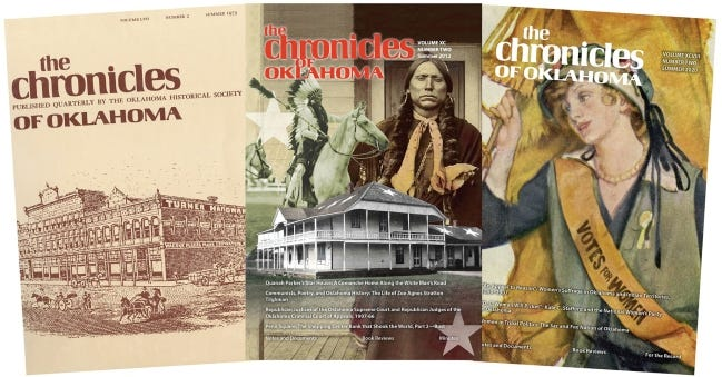 A grant from the Inasmuch Foundation will help fund digitization of The Chronicles of Oklahoma. [PHOTO PROVIDED]