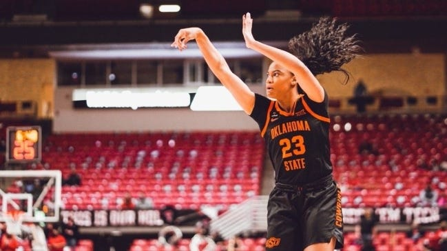 Oklahoma State's Lauren Fields has scored in double-figures in four of the last six games and is averaging 12.7 points per game during that span. [OSU Athletics]