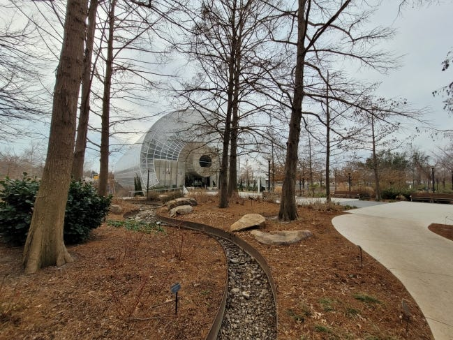 A view from a wintertime walking tour of Myriad Gardens. The next one is at 10 a.m. Feb. 27. [PROVIDED]