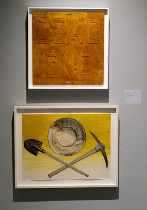 """Ed Ruscha: OKLA"" exhibit at the Oklahoma Contemporary Arts Center on Automobile Alley. [Doug Hoke/The Oklahoman]"
