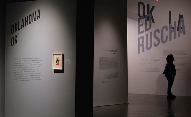 "The exhibit ""Ed Ruscha: OKLA"" is on view at the Oklahoma Contemporary Arts Center on Automobile Alley, Friday, February 12, 2021. The exhibit runs through July 5. [Doug Hoke/The Oklahoman]"