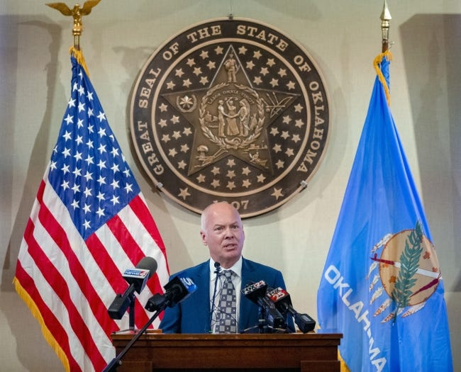 Health Commissioner Dr. Lance Frye speaks during a press conference at the state Capitol building on Thursday, Dec. 10, 2020. [Chris Landsberger/The Oklahoman]