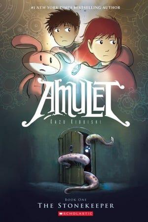 "Kazu Kibuishi of ""Amulet"" was the keynote speaker at the ComicsPRO conference. [Scholastic]"