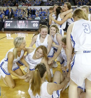Lomega won its 13th girls basketball title last season, most in Oklahoma history. But despite the program's rich history, this season's team may be its best. It has scored 106 points or more three times this season and is averaging 85.0 points a game. [BRYAN TERRY/THE OKLAHOMAN]