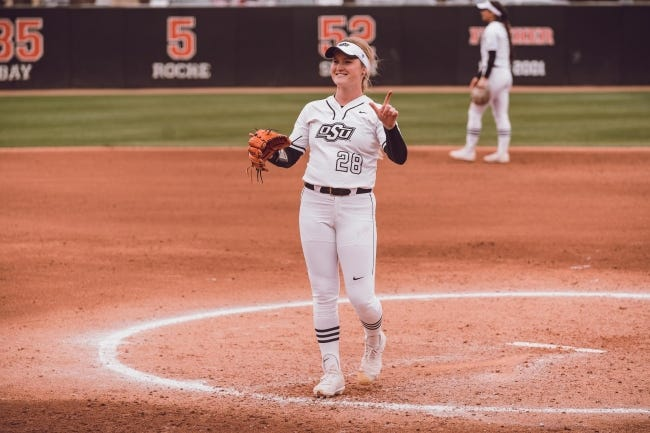 Oklahoma State pitcher Kelly Maxwell has yet to allow a run this season in 20 innings pitched. [Photo courtesy of OSU Athletics]