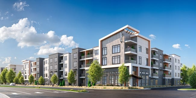 Artist's drawing of new apartments to start in June at Chisholm Creek. [PROVIDED/MEDALLION GROUP/ARCHITECT HEDK ARCHITECTS; DRAWING BY THEPREVIEW3D.COM]
