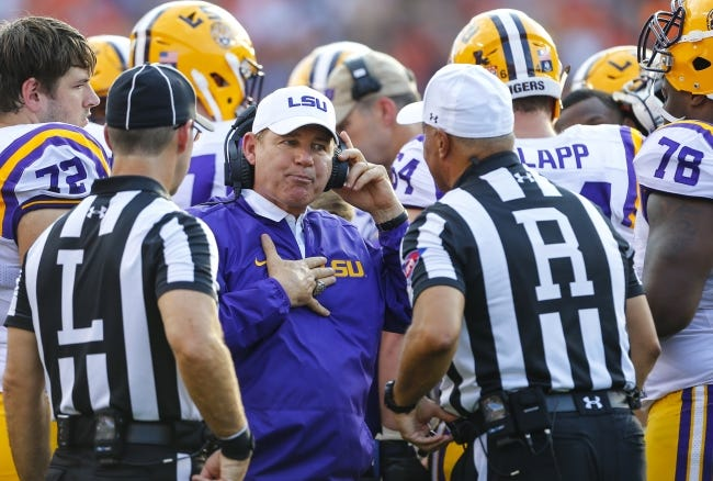LSU's former athletic director recommended in 2013 that Les Miles be fired as Tigers football coach because of his behavior with female student workers. Then-Athletic Director Joe Alleva's recommendation to former LSU President F. King Alexander is detailed in a newly released report into how the university handled sexual misconduct complaints. The report was released Friday by the Husch Blackwell law firm. [AP Photo/Butch Dill]