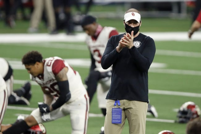 """OU defensive coordinator Alex Grinch's recruiting pitch for players thinking about other schools: """"You're going to be sitting on the couch watching us play for a national championship."""" [Bryan Terry/The Oklahoman]"""