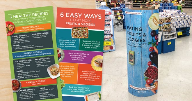 Shape Your Future, a program of TSET, partners with grocery stores throughout Oklahoma by providing signage to educate people about nutritious foods and recipes. [PROVIDED]